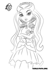 Raven Queen Planse De Colorat Ever After High