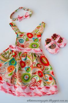 FREE pinafore dress tutorial (6 months old but tips for adjustments)