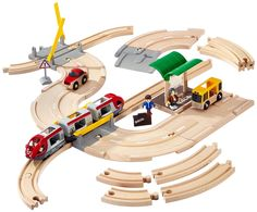 brio road & rail with level crossings
