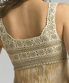 Crochet, I Have Been Looking For A Toppe - Diy Crafts - Maallure - Diy Crafts Débardeurs Au Crochet, Crochet Lace Dress, Crochet Fabric, Crochet Collar, Crochet Woman, Crochet Blouse, Thread Crochet, Crochet Toddler, Crocheted Lace