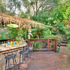 Backyard tiki bar