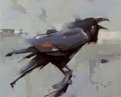"Daily Paintworks - ""Raven calling"" - Original Fine Art for Sale - © Thorgrimur Andri Einarsson"