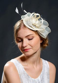White wedding fascinator hat for your special occasions-New