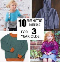 Baby Knitting Patterns Jumper 10 Free knitting patterns for 3 year olds Easy Sweater Knitting Patterns, Baby Boy Knitting Patterns, Baby Cardigan Knitting Pattern, Jumper Patterns, Knitting For Kids, Easy Knitting, Knitting Paterns, Baby Patterns, Stitch Patterns