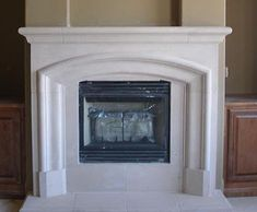 Cast Stone fireplaces made from durable limestone composite. Cast stone is light weight making it easy to install. Great deals on custom cast stone surround designs & sizes. Fireplace Mantel Surrounds, Marble Fireplace Mantel, Stone Fireplace Mantel, Marble Fireplaces, Stone Fireplaces, Fireplace Ideas, Fireplace Gallery, Simple House, Hearth