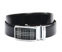 Finest Quality, Stylish Reversible Black-Brown Reversible Formal and Casual Italian Leather Belt.
