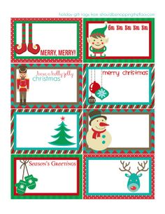 i should be mopping the floor: Friday's Freebie: MORE Holiday Gift Tags