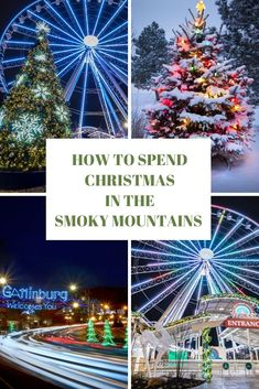 Christmas in Gatlinburg: Why not consider a wintertime visit to Gatlinburg and the Great Smoky Mountains, the perfect spot for a family Christmas in the Smokies at Margaritaville Gatlinburg or Margaritaville Island Hotel In Pigeon Forge. Christmas Family Vacation, Best Christmas Vacations, Christmas Getaways, Christmas Travel, Christmas Destinations, Christmas Mood, Christmas In Nashville, Christmas Trips, Christmas Ideas
