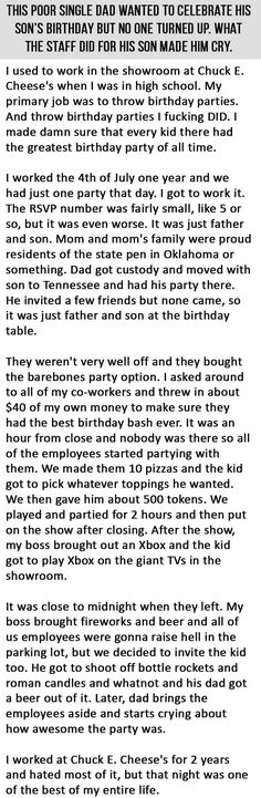 This Kid Was Having The Worst Birthday. What This Staff Did For Him Was Gold.
