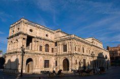 Fachada del Ayuntamiento de Sevilla en al actualidad - Diego de Riaño