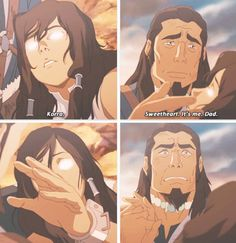 Legend of Korra: Korra and her father... i cried throughout this whole finale