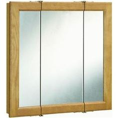 Special Offers - Design House 545301 Claremont Honey Oak Tri-View Medicine Cabinet Mirror with 3-Doors 30-Inches by 30-Inches - In stock & Free Shipping. You can save more money! Check It (January 01 2017 at 03:20AM) >> http://bathroomvanitiesusa.net/design-house-545301-claremont-honey-oak-tri-view-medicine-cabinet-mirror-with-3-doors-30-inches-by-30-inches/