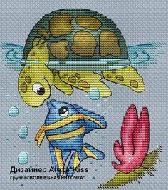 Pattern PDF Instant Download Embroidery Cute Wall Decor Nursery Cross Stitch turtle fish sea sample Cross Stitch Sea, Baby Cross Stitch Patterns, Small Cross Stitch, Cross Stitch Animals, Cross Stitch Flowers, Cross Stitch Charts, Cross Stitch Designs, Cross Stitching, Cross Stitch Embroidery