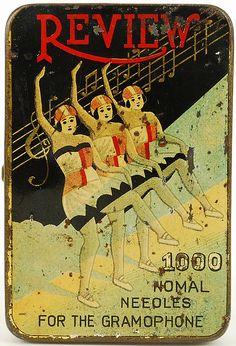 Japanese gramophone needles tin