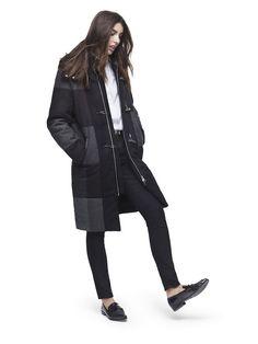 Adam Lippes for Target wool coat on model
