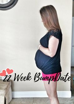 A picture of me for my 22 week bumpdate wiith baby number four.