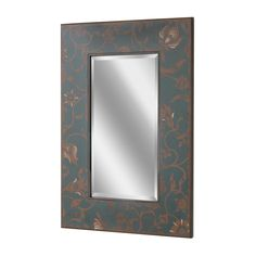Scandinavian Floral Wall Mirror (1150)