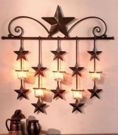 so unique - barn star candle wall sconce