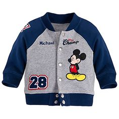 Varsity Mickey Mouse Jacket for Baby Boys