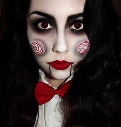 Creepy Halloween Costumes, Halloween Makeup Looks, Halloween Masks, Halloween Kids, Halloween Vintage, Maquillage Halloween Simple, Helloween Make Up, Fake Tattoo, Makeup Tips