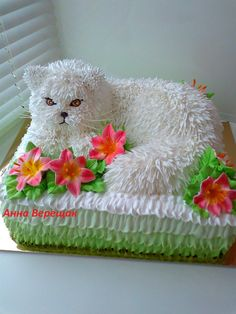 (3) Одноклассники Fancy Cakes, Cute Cakes, Pretty Cakes, Cake Icing, Buttercream Cake, Eat Cake, Unique Cakes, Creative Cakes, Dog Cakes