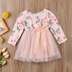 Materials & Care Cotton Polyester Machine Wash Cold Tumble Dry Low Product Details Straight neckline Pattern Type:Solid Gender: Girls - March 16 2019 at Baby Outfits, Outfits Niños, Baby Girl Party Dresses, Cute Girl Outfits, Newborn Outfits, Little Girl Dresses, Baby Dress, Kids Outfits, Girls Dresses