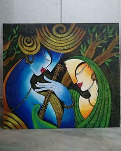 Ganesha Painting, Buddha Painting, Ganesha Art, Krishna Art, Mural Painting, Mural Art, Painting & Drawing, Madhubani Art, Madhubani Painting
