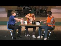 """LOVE IT!!!  What a great talent show idea!  I adore that they used the """"cup"""" game, we used to play that at camp all the time!"""