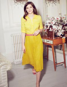 Long modest below the knee midi skirt from Boden.  (Also in white and navy)