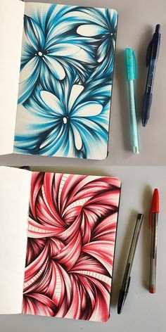 Ballpoint pen sketchbook drawings by Jennifer Johansson. Click through to see more!