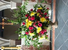 St Paul's Episcopal Altar flowers by Mary Holland.