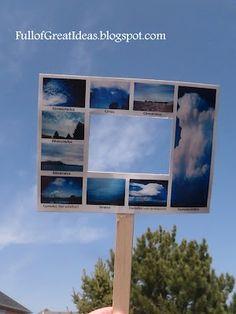 great idea for teaching cloud types. killiansmom