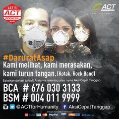 .@kotakband_ mengajak kita peduli saudara sebangsa yang terdampak asap. Mari selamatkan mereka!  #DaruratAsap