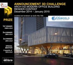 Challenge Arch-viz Modern Office Building international render contest
