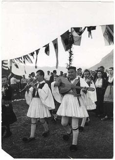 Folk band in costumes, Delphi, Greece] Copyright © David Seymour/Magnum Photos International Center of Photography Delphi Greece, Folk Bands, Greece Photography, Greek Music, Royal Guard, Major Events, Magnum Photos, Cool Eyes, Traditional Outfits