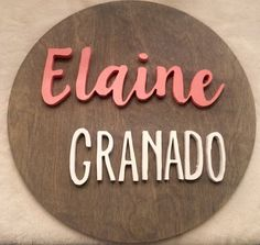 """18"""" Custom Round Name Sign 