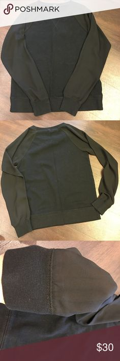 J. Crew sweatshirt Size XS. EUC. Worn once. Black with black sheer sleeves. Great for casual Friday at work or a weekend with jeans. J. Crew Tops