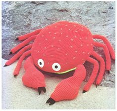 Cute Crochet Crab Pattern pattern on Craftsy.com
