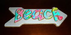 Lilly Pulitzer Beach Sign by CoconutCreations on Etsy, $65.00