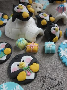 North Pole theme Cake Toppers by mimicafe Union   http://www.mimicafeunion.com