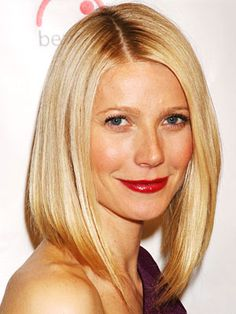 Gwyneth Paltrow. Blonde bob.