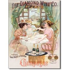 The Diamond Wine Co. Champagne Tin Sign