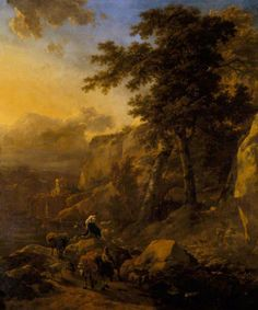 BBC - Your Paintings - Landscape with Herdsmen