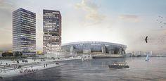 Concept new Feyenoord stadium Rotterdam