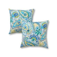 Greendale Home Fashions 2-pack Outdoor Throw Pillow, Blue