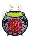 Witches Brew Monogram Applique