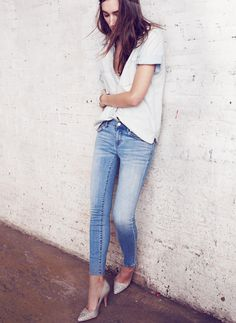 nothing like a great pair of heels to amp up some skinnies