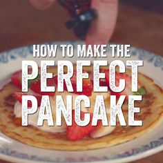 Discover this deliciously simple one cup pancake recipe from Jamie Oliver; enjoy these quick, traditional pancakes with the added benefit of blueberries. Healthy Desserts For Kids, Kid Desserts, Healthy Recipes, Fruit Recipes, Cooking Recipes, Healthy Kids, Cooking Eggs, Healthy Baking, Eat Healthy