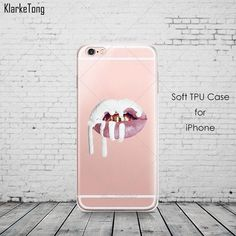 Graffiti Sexy Girl Kylie Lips Phone Case For iPhone 6 5 SE 7 8 X Transparent Silicone Carcasas Fundas Capinha Iphone 6, Iphone 7 Plus, Iphone Cases, Kylie Lips, Girly, Iphone Accessories, Design Case, Mobile Cases, Iphone Models