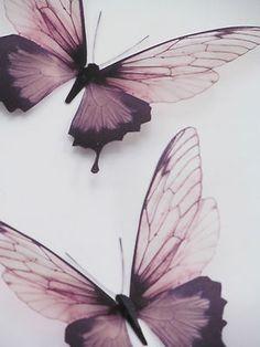 3  Luxury 3D Exotic Brown Butterflies Wall Art Mirror Furniture Home Accessories